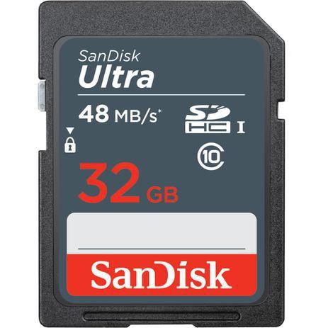 CARTÃO DE MEMÓRIA SANDISK ULTRA SDHC 32GB - 48MB/S