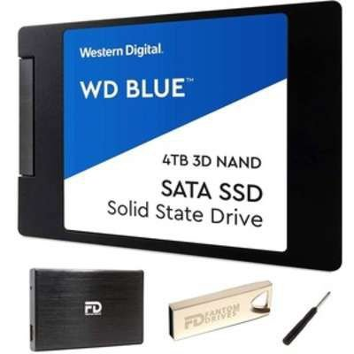 Fantom Drives WD BLUE 4TB Internal SSD - W4000SSD-KIT