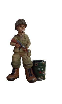 Cofre Boneco Militar - Combatente da Segunda Guerra Mundial