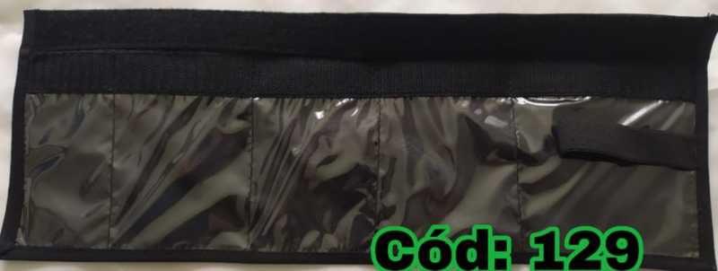 Organizador de Kit Pequeno Preto c Velcro