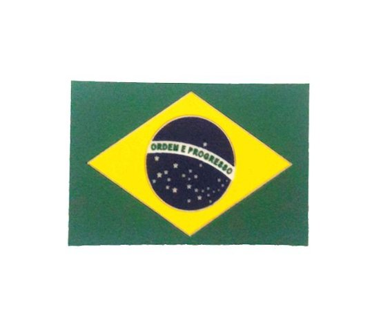 Kit 3 Emborrachado EB Bandeira do Brasil Emborrachada