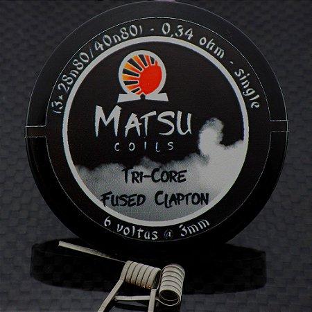 Resistência Tri Core Fused Clapton 2x - Matsu Coils