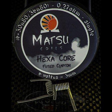 Resistência Hexa Core Fused Clapton 2x - Matsu Coils