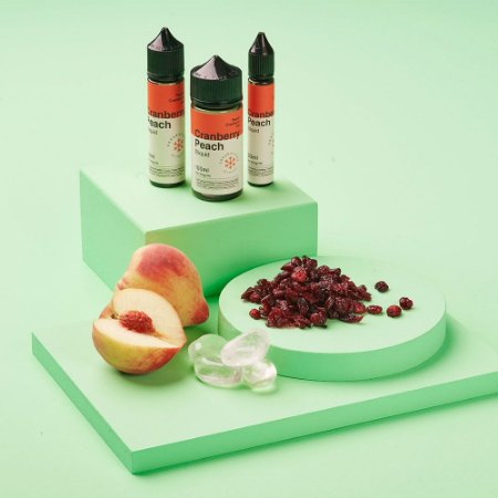Líquido Juice Cranberry Peach Ice - Dream Collab