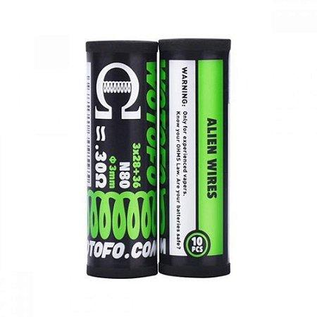 Pack Resistências Coil Alien N80 28g 10x - Wotofo