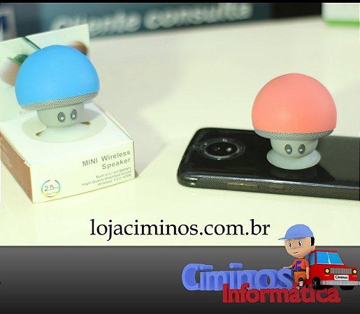 Mini Alto-Falante com Bluetooth - Cogumelo