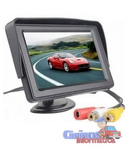 """Monitor Stand And Security TFT Tela LCD 4.3"""" 12V"""