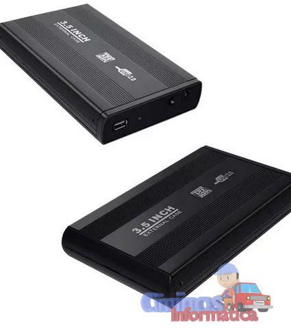 Case Hd 3,5 Sata Usb 2.0 Uso Externo Em Console Pc Notebook