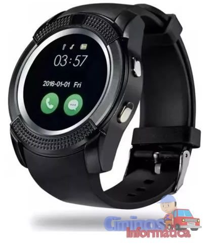 Relógio Bluetooth Inteligente Smartwatch V8 Com Chip Câmera
