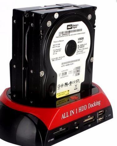 Case Hd All In 1 Hdd Docking Usb 2,0 Sata Backup Computador