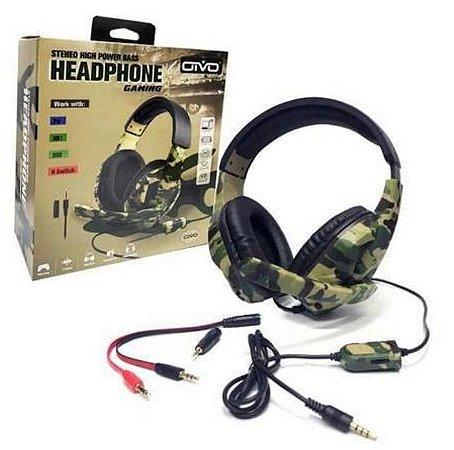 Fone De Ouvido Headset Gamer Camuflado 5 Em 1 Iv-x1012