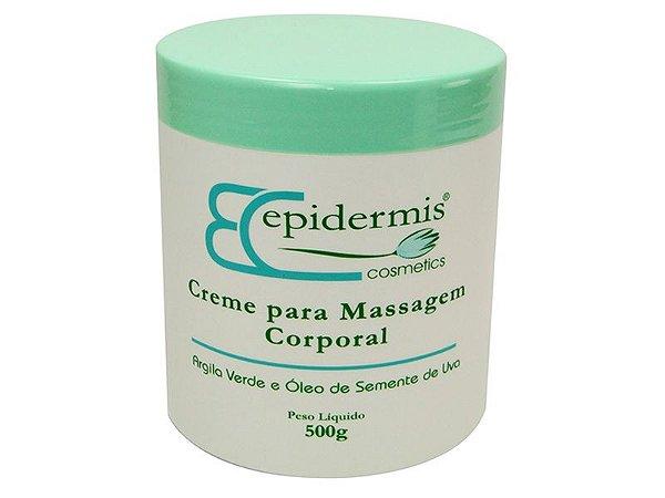Creme Massagem Corporal Argila Verde e Óleo de Semente de Uva 500 g