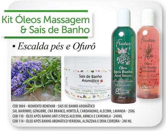 Kit Òleos Massagem e Sais de Banho