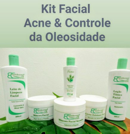 Kit Facial Profissional Acne e Controle de Oleosidade