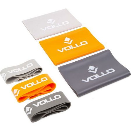 Kit 6 Elásticos Vollo Com 3 Faixa Elástica E 3 Mini Band VP1080