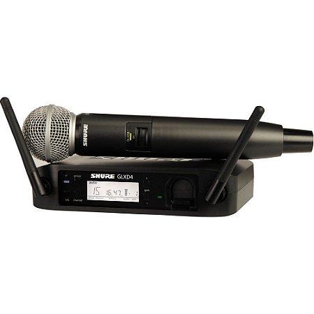 Microfone Bastão Sem Fio Shure GLXD24/SM58