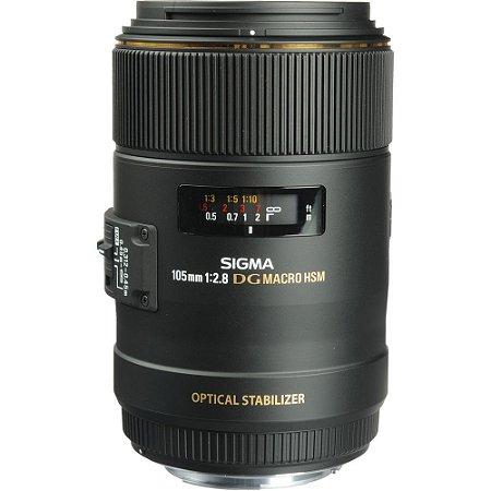Lente Sigma macro 105mm f/2.8 EX DG OS HSM EF-Mount Canon