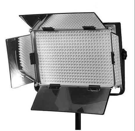 Iluminador de 500 LEDs com Suporte para Bateria V-mount