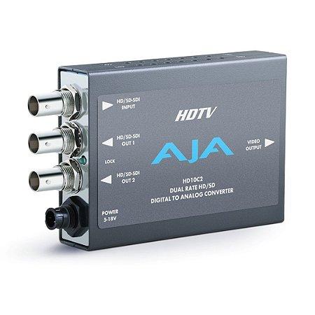 Conversor AJA HD10C2 SD-SDI para Analógico