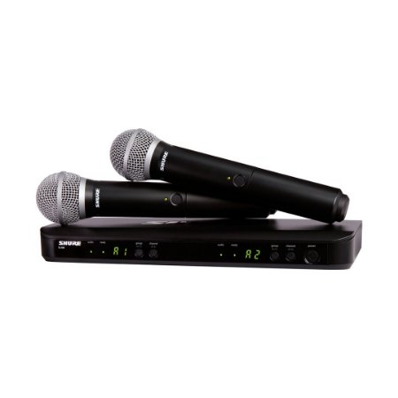 Sistema de microfone Shure BLX288/PG58 - garantia Shure Brasil