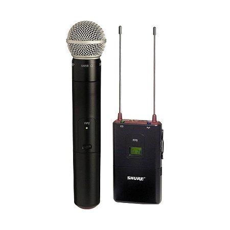 Microfone sem fio Shure FP25-SM58- garantia Shure Brasil