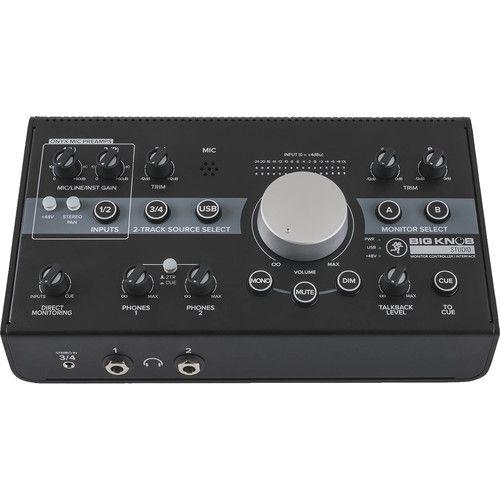 Controlador e interface de monitor de estúdio Mackie Big Knob