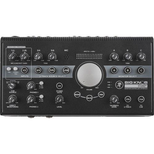 Controlador e interface de monitor Mackie Big Knob Studio Plus