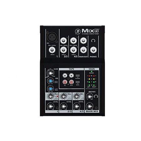 Mixer Mackie com 5 canais MIX5