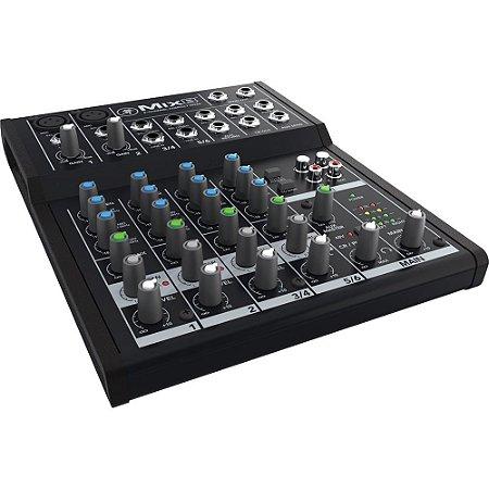 Mixer Mackie com 8 canais MIX8