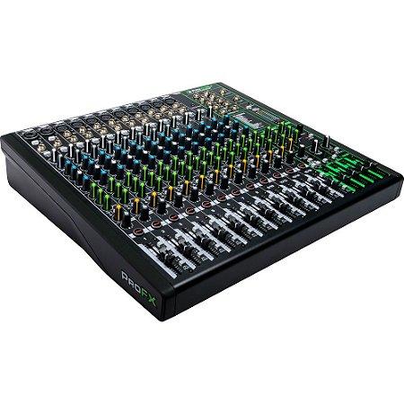 Mixer  Mackie ProFX16v3 - 16 canais com FX embutido