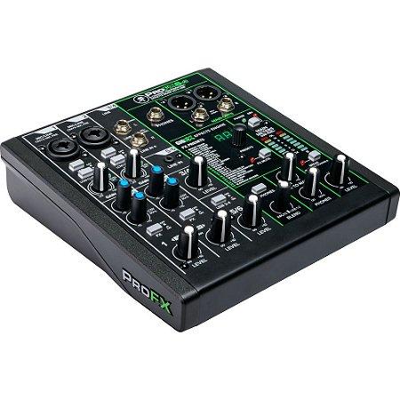 Mixer Mackie ProFX6v3 - 6 canais com FX embutido