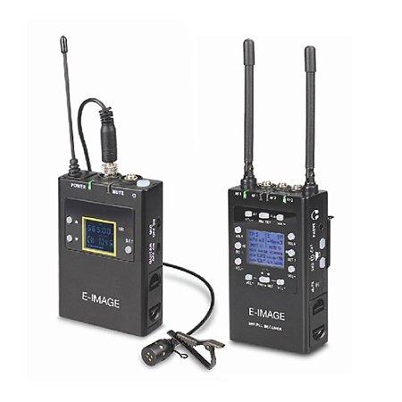 Kit Microfone de Lapela Sem Fio E-Image