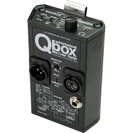Whirlwind QBOX gerador de sinal para testes de áudio