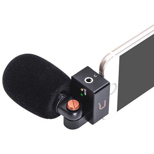 Microfone Shotgun Cardióide Comica CVM-VS09 MI para iPhone (Lightning)