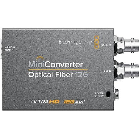 Mini Conversor Blackmagic Design para Fibra Ótica 12G-SDI