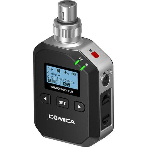 Transmissor sem fio plug-on de áudio Comica CVM-WM200/WM300