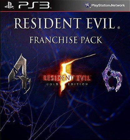 RESIDENT EVIL TRIPLE PACK PS3 PSN MIDIA DIGITAL