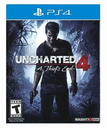 Uncharted 4: A Thief'S End - Ps4 Psn Mídia Digital