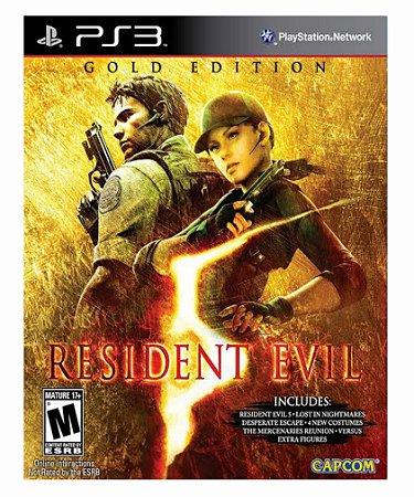 RESIDENT EVIL 5 GOLD EDITION - PS3 PSN MÍDIA DIGITAL