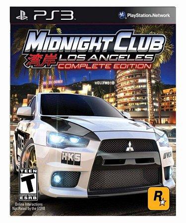 Midnight Club Los Angeles ps3 psn midia digital