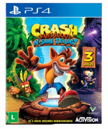 Crash bandicoot n sane trilogy ps4 psn midia digital
