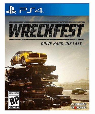 wreckfest ps4 psn midia digital
