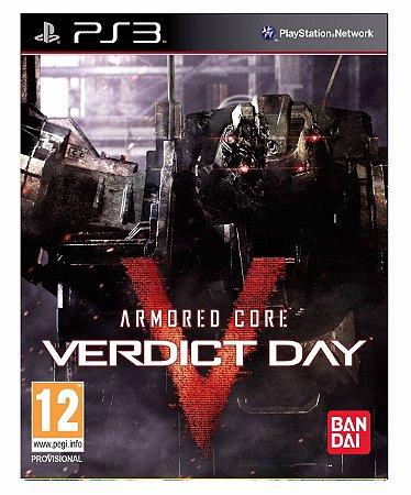 Armored core 5: Verdict day Mídia digital  ps3
