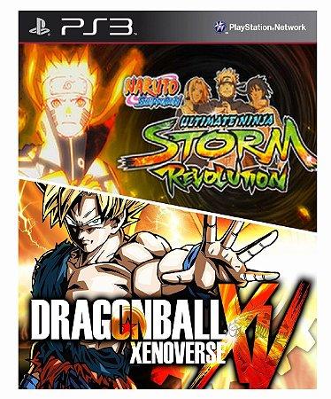 Combo Dragonball z xenoverse + Naruto  Revolution Ps3 Mídia Digital