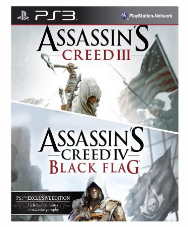 Combo Assassins Creed 3 + Assassins creed 4 black flag Ps3 Mídia Digital