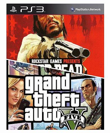Combo Red Dead Redemption + Gta 5 Ps3 Mídia Digital