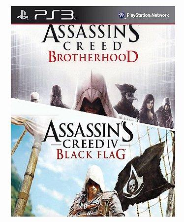 Combo Assassins Creed Brotherhood + assassins creed 4 black flag Ps3 Mídia Digital