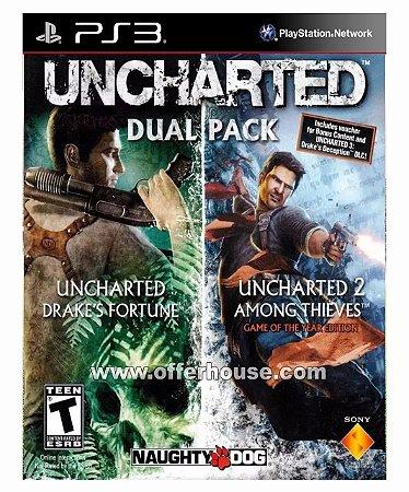 UNCHARTED Greatest Hits Dual Pack Ps3 Psn Mídia Digital