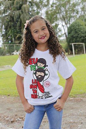 Camiseta Infantil Eu Te Levantarei