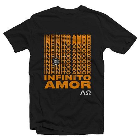 Camiseta Baby Look feminina manga curta Infinito Amor (Nova)